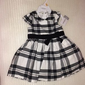 Size 12 black and white dress